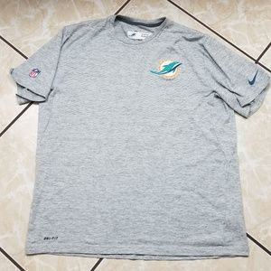 Nike Miami Dolphins Team Issued Gray Dri Fit Shirt